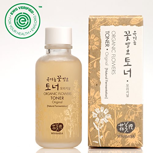 - Whamisa Organic Flowers Skin Toner - Original 120ml - Naturally fermented, EWG Verified