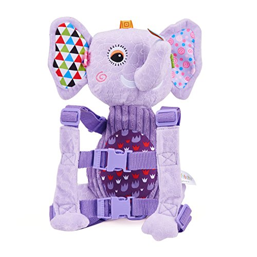 Mufly Toddler Safety Harness Backpack Children's Walking Leash Strap and Name Label -Multicolor (purple) by Mufly (Image #1)