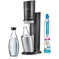SodaStream Crystal 2.0 titan vatten karbonator med 3 glasflaskor