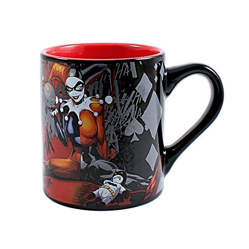 DC Comics HQ1032 Harley Quinn Ceramic Mug, 14-Ounces, -