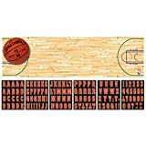 Sports and Tailgating NBA Party Spalding Basketball Giant Customizable Banne Decoration, Plastic, 65' x 20