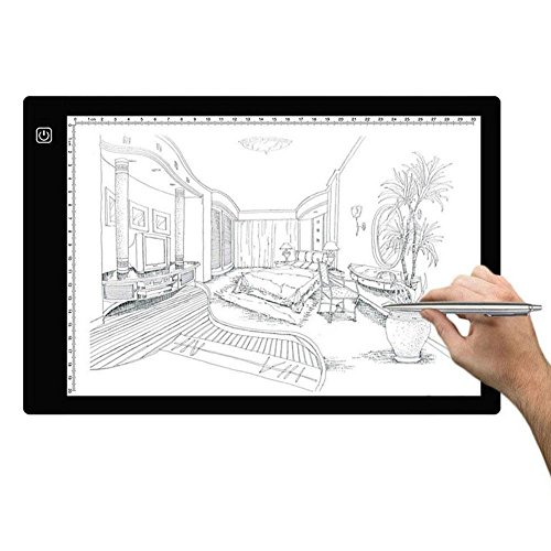 A4 LED Copy Board, Super Thin Drawing Copy Tracing Light Box with Brightness Adjustable for Artists, Drawing, Animation, Sketching, Designing by HYSWOW