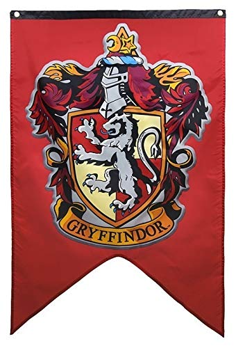 Yi Amoy Harry Potter Hogwarts Wall Banner (red)