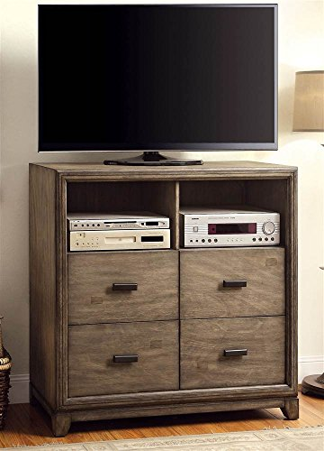 4-Drawer TV Stand in Natural Ash Finish by Furniture of America