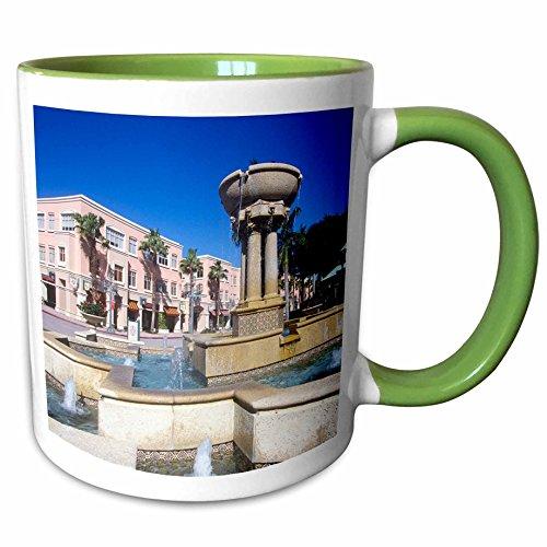 3dRose Danita Delimont - Florida - Downtown Mizner Park, Boca Raton, Florida, USA - US10 GJO0204 - Greg Johnston - 11oz Two-Tone Green Mug - Boca Raton Outlet