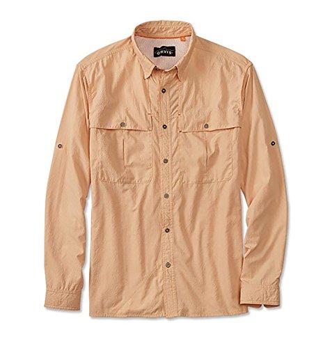Orvis Long-Sleeved Regular Open-Air Caster Shirt (L(42-44), PALE ORANGE)