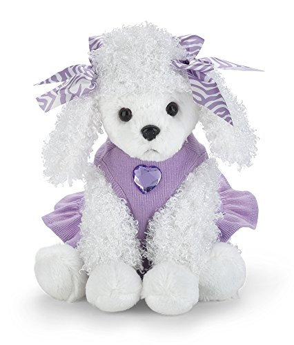 Bearington Posh Poodle Stuffed Animal Toy Dressed Puppy Dog, 13
