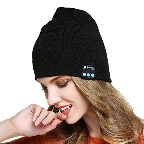 Economy Microphone Cable (Wireless Bluetooth Beanie Hat Unisex Music fashion Cap Speaker Hands Free Microphone Run Outdoor exercise, Compatible with iphone, Android, smart phones)