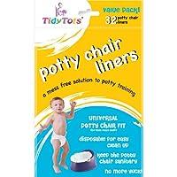 Forros desechables para sillas de ir al baño TidyTots - Value Pack - Ajuste universal para sillas para ir al baño (se ajusta a la mayoría de las sillas para colchonetas) - 32 forros