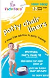 TidyTots Disposable Potty Chair Liners - Value Pack - Universal Potty Chair Fit (fits most potty chairs) - 32 Liners: more info