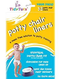TidyTots Disposable Potty Chair Liners - Value Pack - Universal Potty Chair Fit (fits most potty chairs) - 32 Liners BOBEBE Online Baby Store From New York to Miami and Los Angeles