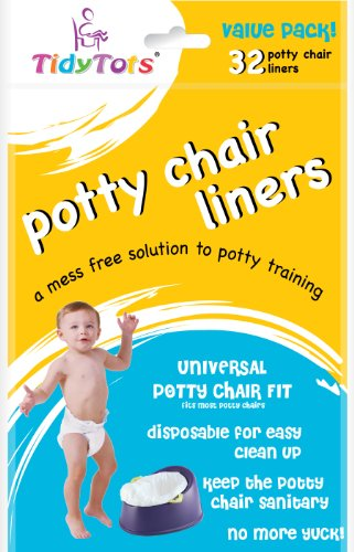 TidyTots Disposable Potty Chair Liners - Value Pack - Universal Potty Chair Fit (fits most potty chairs) - 32...