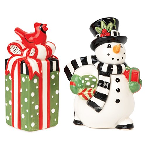 Frosty's Frolic Snowman Collection, Salt and Pepper Set, Red/White (Home Williams Sonoma Box)