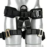 Fusion Climb Tastumi Pro Padded Rope Course/Zipline Half Body Harness M-XL, Black/Red