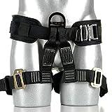 Fusion Climb Tastumi Pro Padded Rope Course/Zipline Half Body Harness M-XL, Black/Red