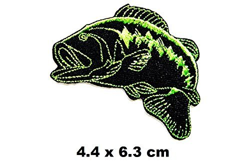 Bass Fishing sport Fish Lure Hook patch Iron on Logo Vest Jacket cap Hoodie Backpack Patch Iron On/sew on patch