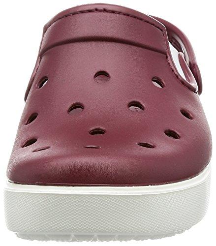 Crocs Unisex Citilane Clog Garnet / Blanco