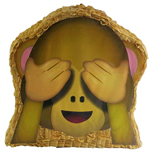 Pinatas See-No-Evil Monkey Emoji Icon Pinata, Party Game, Decoration and Photo (Monkey Pinata)