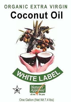 100% Organic Unrefined White Label Extra Virgin Coconut Oil (1 gallon) from Assured Organics