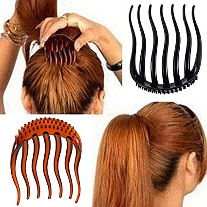 Fluffy Ponytail Inserts Hair Clip Bun Bouffant Volume Hair Comb Styling Tool UK