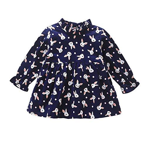 Bébé Robes Lapin Foncé Vêtements Cartoon Enfants Princesse Bleu Froncé Ansenesna Filles Bambin 4xn7ff5
