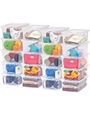 IRIS USA 5 Quart Clear Storage Box, 20 Pack, 586826