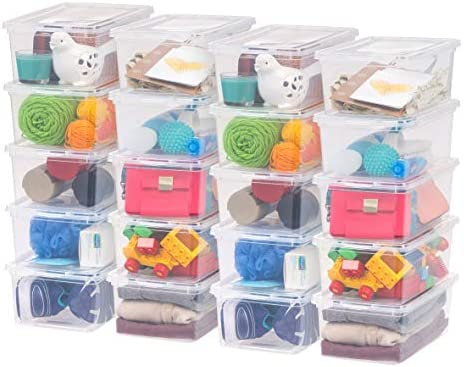 IRIS USA CNL-5 Storage Box, 5 Quart, Clear, 20 Pack
