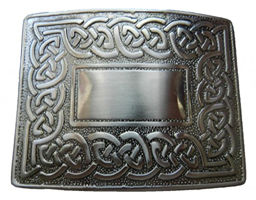 Scottish Kilt belt buckle #24 Antiqued Black Finish