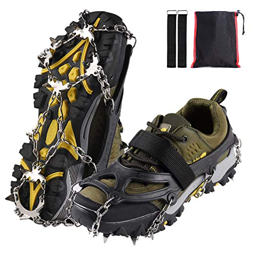 Xflyee Traction Cleats Ice Snow Grips with 18 S...