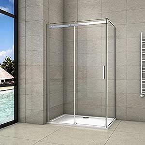 110x70x195cm Mamparas de ducha cabina de ducha 8mm vidrio templado de Aica: Amazon.es: Bricolaje y herramientas