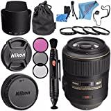 Nikon AF-S VR Micro-NIKKOR 105mm f/2.8G IF-ED Lens 2160 + 62mm 3 Piece Filter Kit + 62mm Macro Close Up Kit + Lens Pen Cleaner + Fibercloth + Lens Capkeeper + Lens Cleaning Kit Bundle