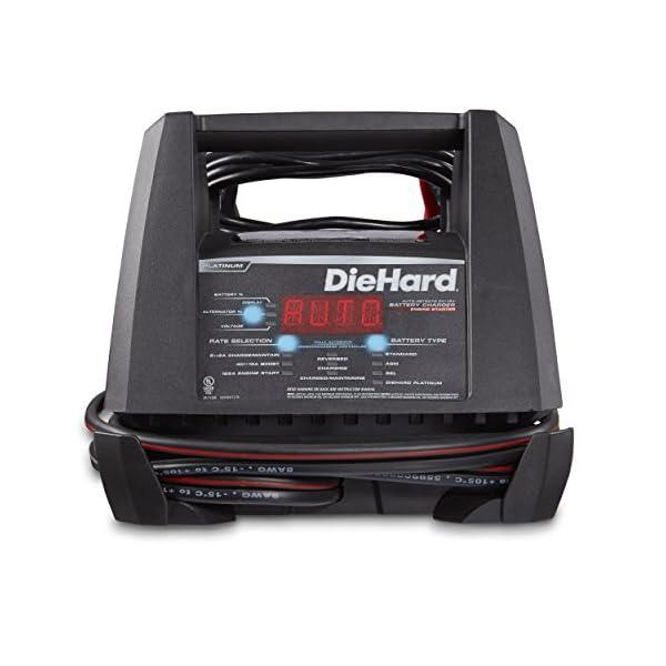 DieHard 71328 Platinum Shelf Smart Battery Charger Engine Starter 612 Volt 2 6A Charge 15 40A Boost 125A