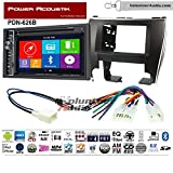 Volunteer Audio Power Acoustic PDN-626B Double Din Radio Install Kit with GPS Navigation Bluetooth CD/DVD Player Fits 2015-2017 Non Amplified Toyota Camry