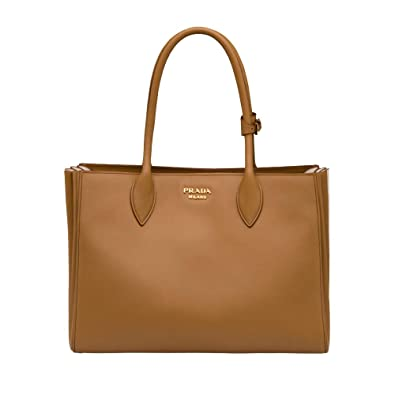 2c626539d607 Prada Bibliothèque City Calf Shopping 1BG098 Caramel Tote  Handbags ...