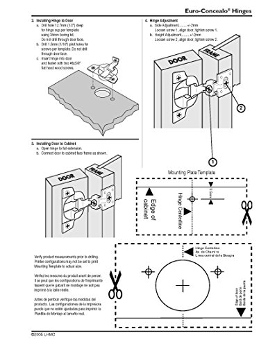 2-Pack Liberty HN0042L-NP-U 1-3//8-Inch Overlay Hinge 108-Degree Face Frame