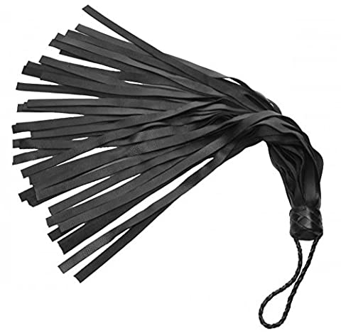 Real Leather Flogger Black Palm Soft Hand Tail Whip for Spanking Bondage Role Play Toys Adult Couple Gear Harness (Eden Harness)