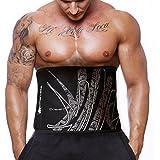 Actervate - Waist Trimmer Belt Black 50 Inch, Slimmer Belt & Sweat Belt for Women and Men - Best Belly Burner Belt, Waist Belt, Back Support, Abs Workout, Slimming & Weight Loss Belt. Mini Sauna Suit