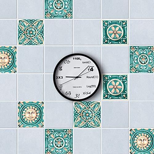 Vintage Tile Patterns - AMAZING WALL Italy Majolica Tiles Vintage Pattern Wall Sticker Living Room Bedroom Kitchen Bathroom Backsplash 5.91x5.91 10 Pcs