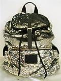 Victorias Secret Pink Bling Silver Gold Flip Sequin Backpack, Outdoor Stuffs