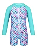 iEFiEL Toddler Baby Girls One Piece Zip Mermaid