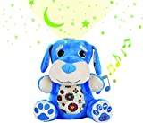 Stella Baby Sound Machine - Nursery Musical Soother Star Projector Toy, 6 Pacifying Lullaby Tones, Perfect Sleeping Shusher Aid System, (Blue)