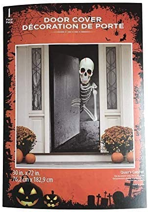 "Halloween Light Up Witch Door Cover 30/"" x 72/"" party decor trick or treat Spooky"
