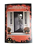 Haunted Halloween Skeleton Door Cover Decorations Scary Demon Dripping Blood 30 X 72 Perfect for Front Door, Refrigerator, Restroom Door or Classroom Door.