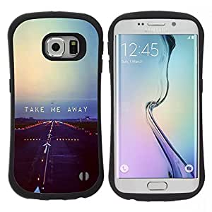 "Hypernova Slim Fit Dual Barniz Protector Caso Case Funda Para Samsung Galaxy S6 EDGE [Volar Libertad Rebel Cita triste""]"