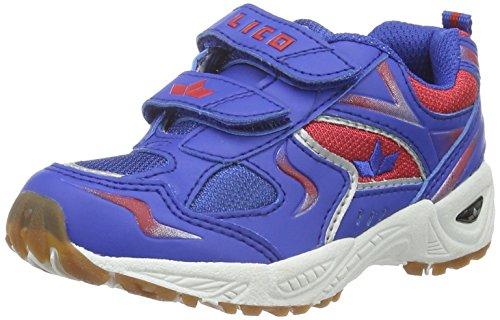 Lico Bob V - Zapatillas deportivas para interior de material sintético infantil Azul (Blau/Rot)