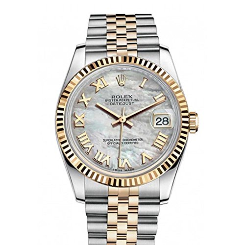- Rolex Datejust 36mm Mother Of Pearl Dial Fluted Watch 116233