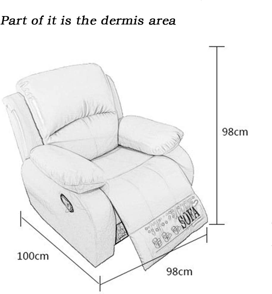 Single Reclining Sofa Lounge with Padded Seat Backrest Yellow ,Firstlayercowhide,Electric YZMKD Electric Lift Chair Recliner Chair for Living Room Home Theater Seating