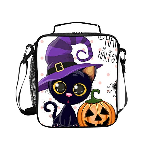 Classic Halloween Feline Lunch Box - Easy to