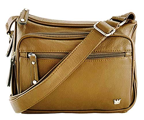 Purse King Magnum Concealed Carry Handbag (Tan)