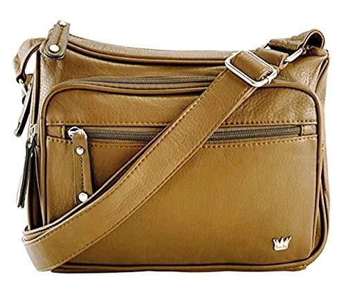 Purse King Magnum Concealed Carry Handbag (Tan) - Bag Quilted Tan